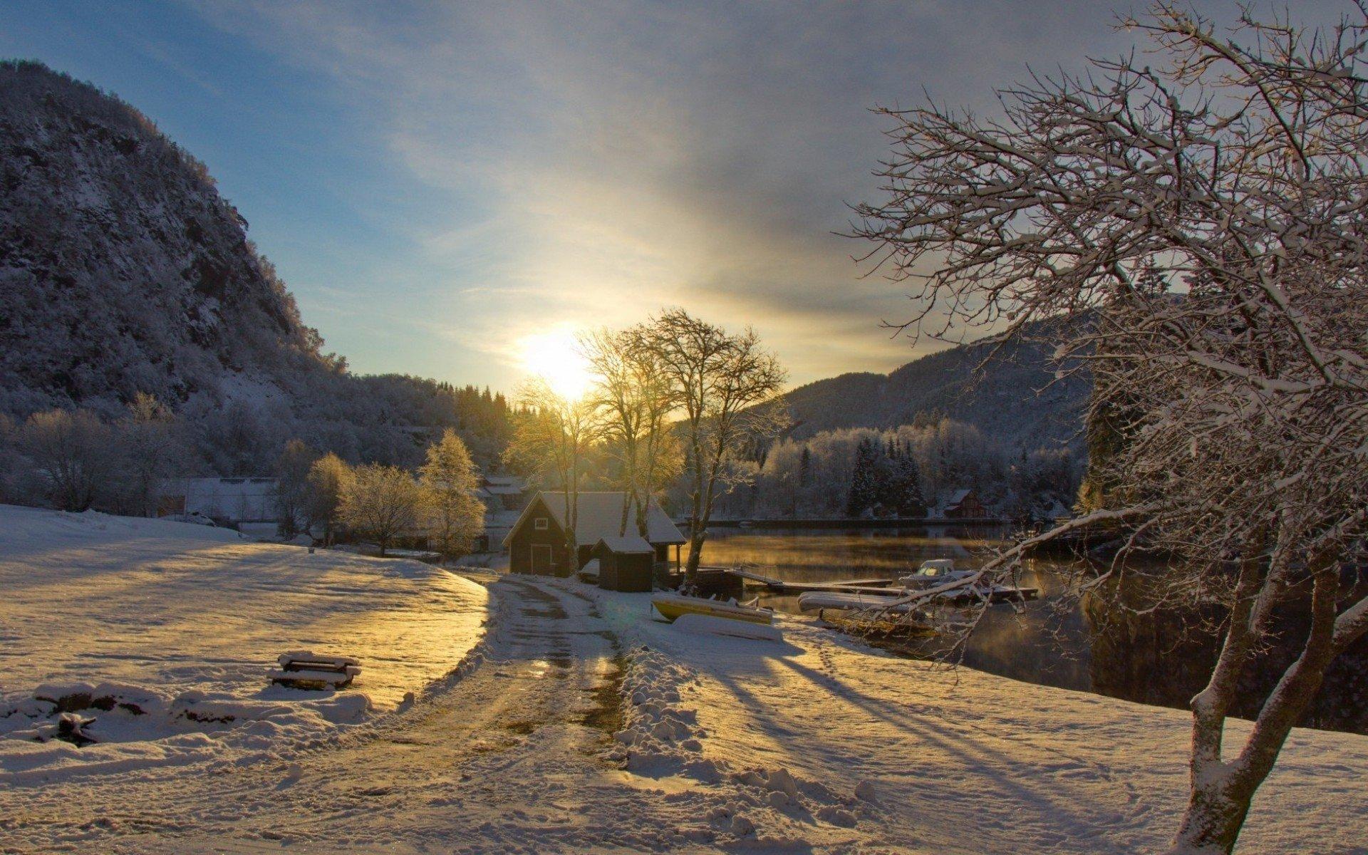 Haus am see wallpaper  Winter Full HD Wallpaper and Hintergrund | 1920x1200 | ID:545527