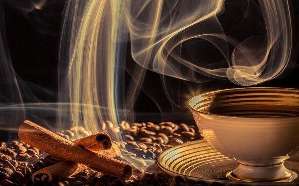 Food Coffee Drink Cinnamon Coffee Beans Cup HD Wallpaper | Background Image