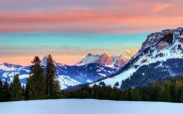Earth Alps Mountain Mountains Mountain Winter Switzerland Alps HD Wallpaper | Background Image