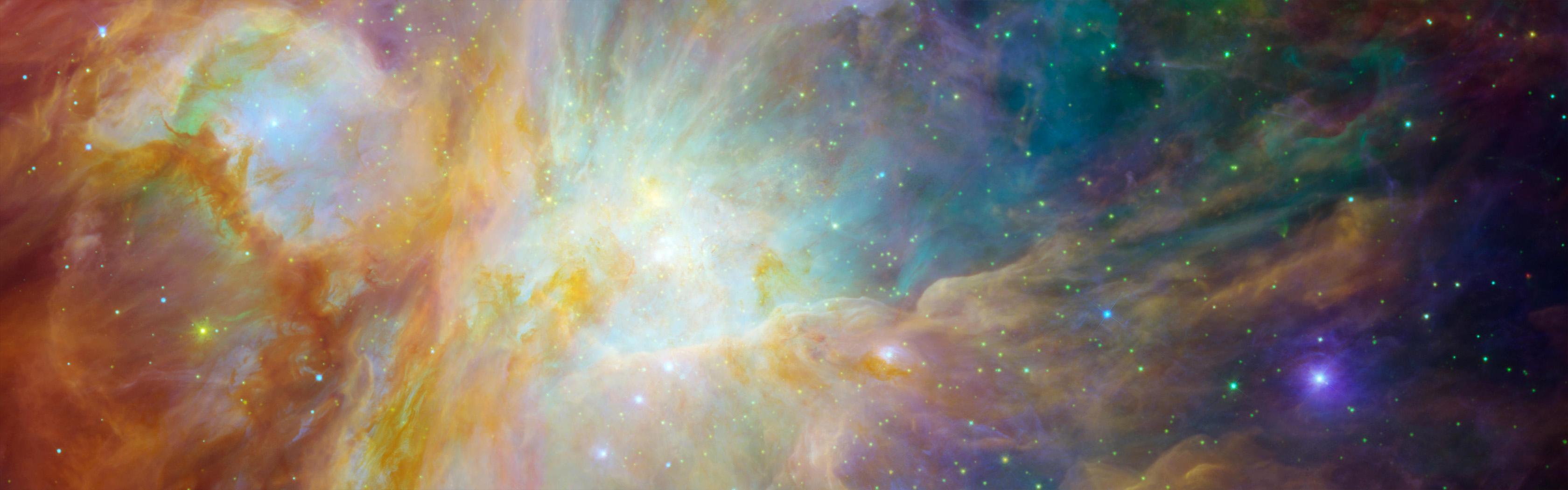 Nebula Wallpaper And Background Image 3360x1050 Id
