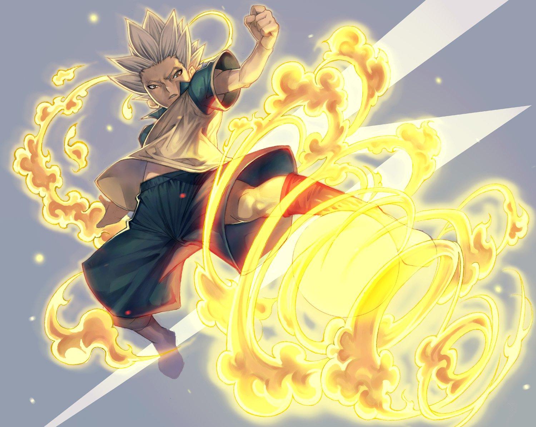 Anime - Inazuma Eleven  Flame Boy White Hair Child Wallpaper