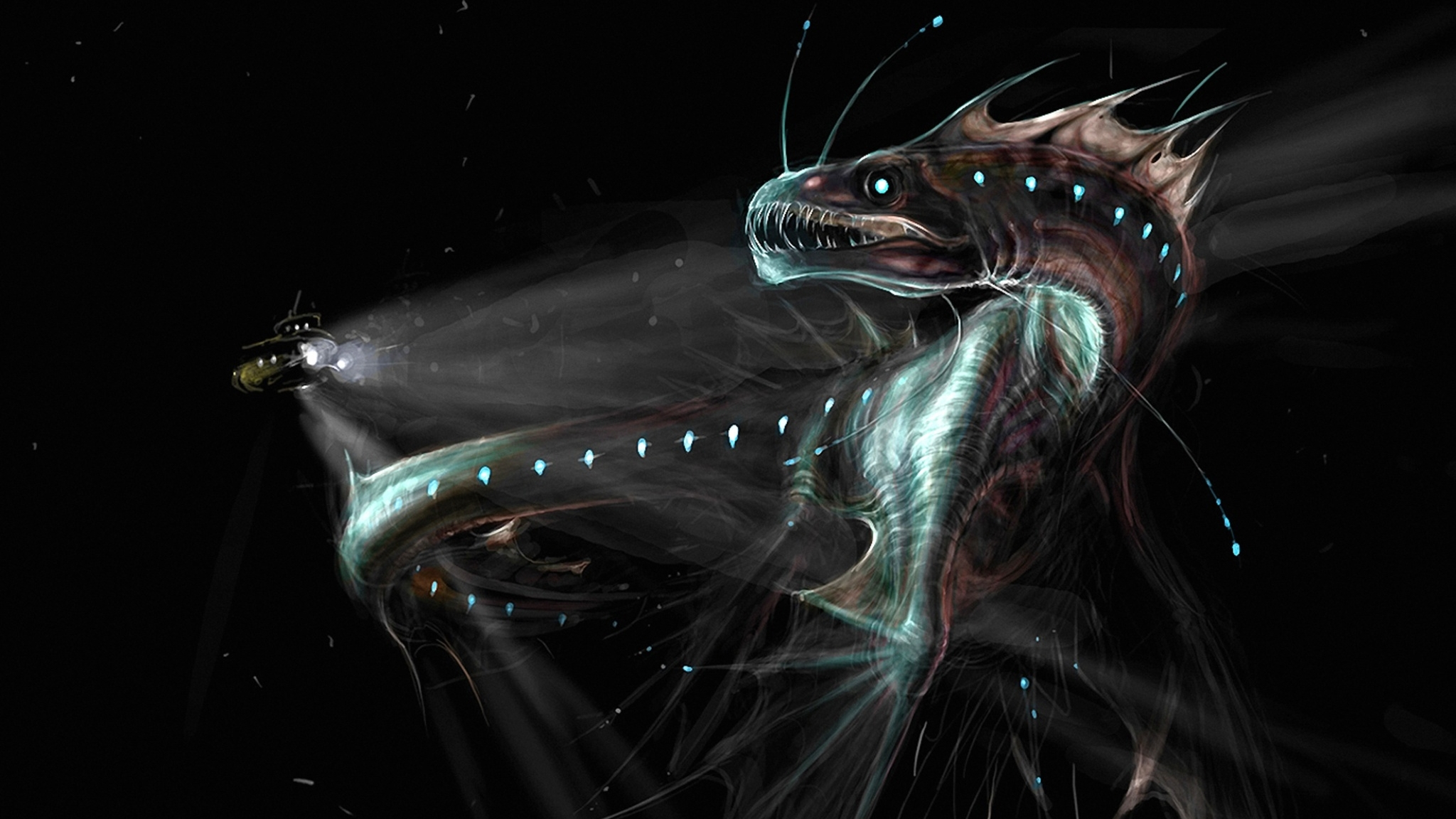 Sea Monster HD Wallpaper | Background Image | 2048x1152 ...