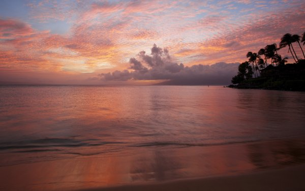 Earth Sunset Seascape HD Wallpaper | Background Image