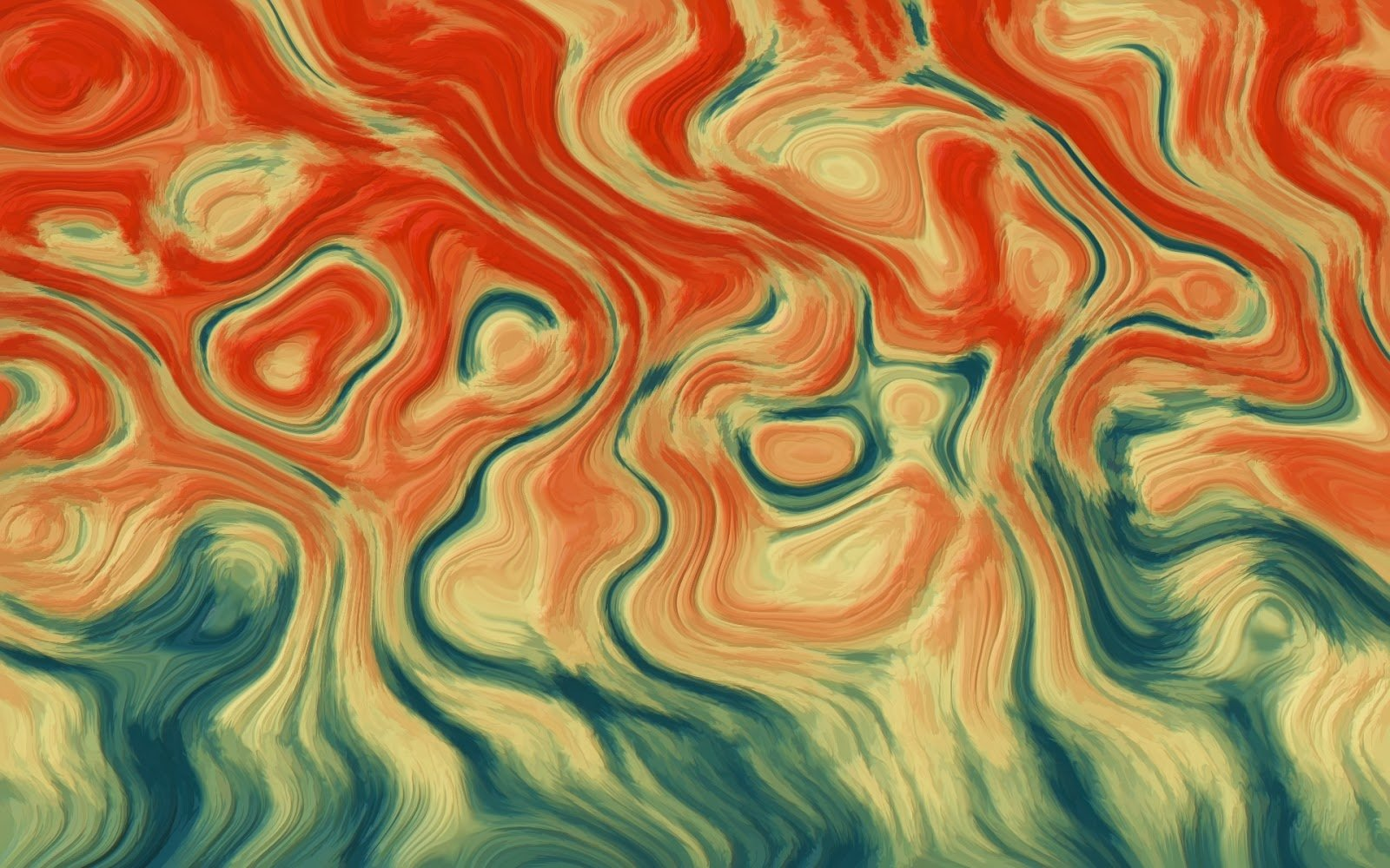 Abstract - Artistic  Texture Orange Red Blue Swirl Colors Wallpaper