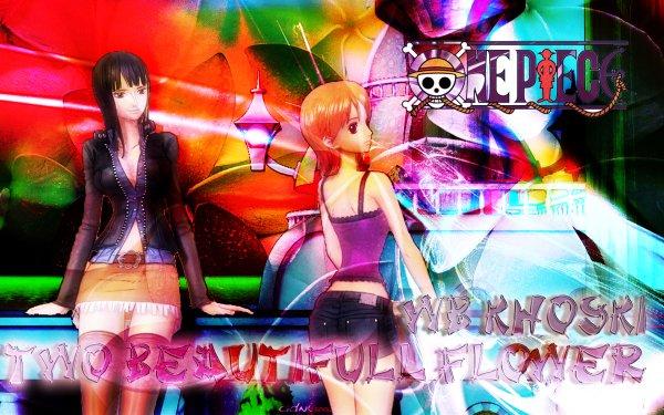 Anime One Piece Nami Flower Nico Robin HD Wallpaper | Background Image