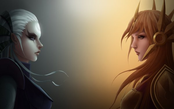 Video Game League Of Legends Leona Diana HD Wallpaper | Background Image