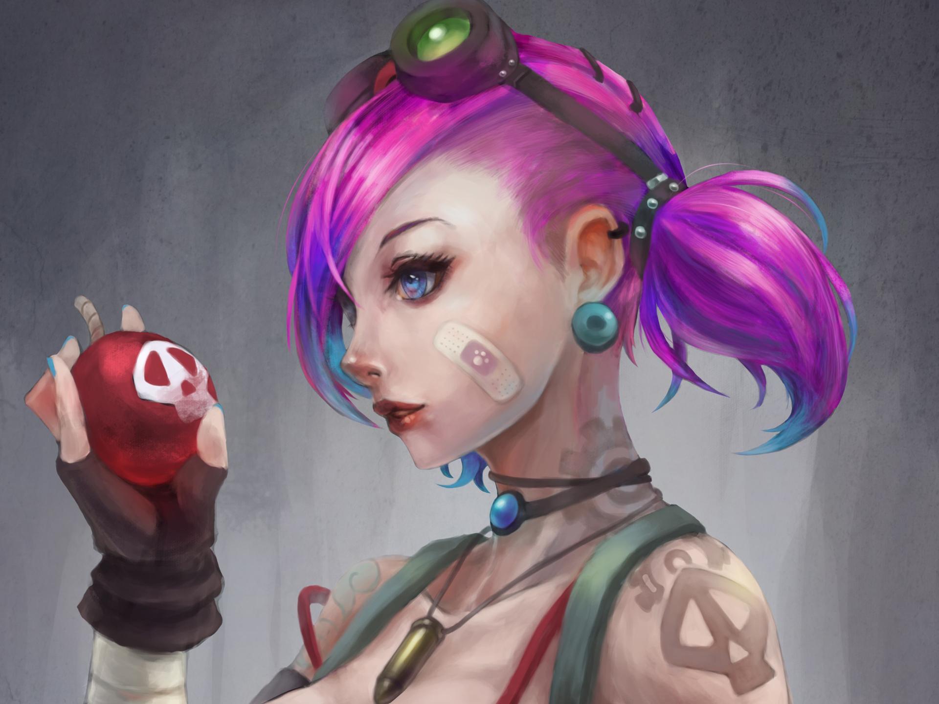 Video Oyunu - League Of Legends Jinx Duvarka??d?