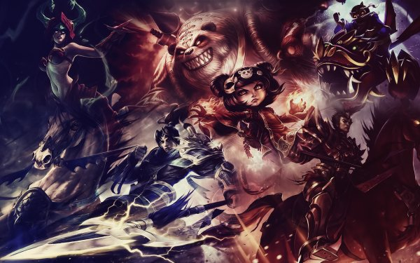 Video Game League Of Legends Annie Cassiopeia Corki Jarvan IV Xin Zhao Tibbers HD Wallpaper | Background Image