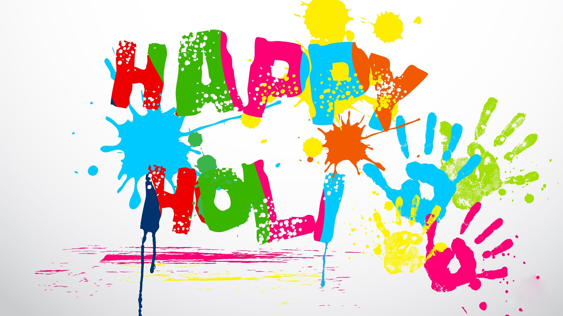 Holiday - Holi  Colors Handprint Wallpaper