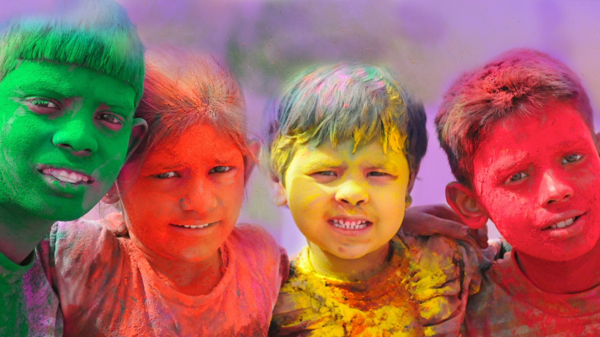 Holiday - Holi  Colors Child Girl Boy Wallpaper