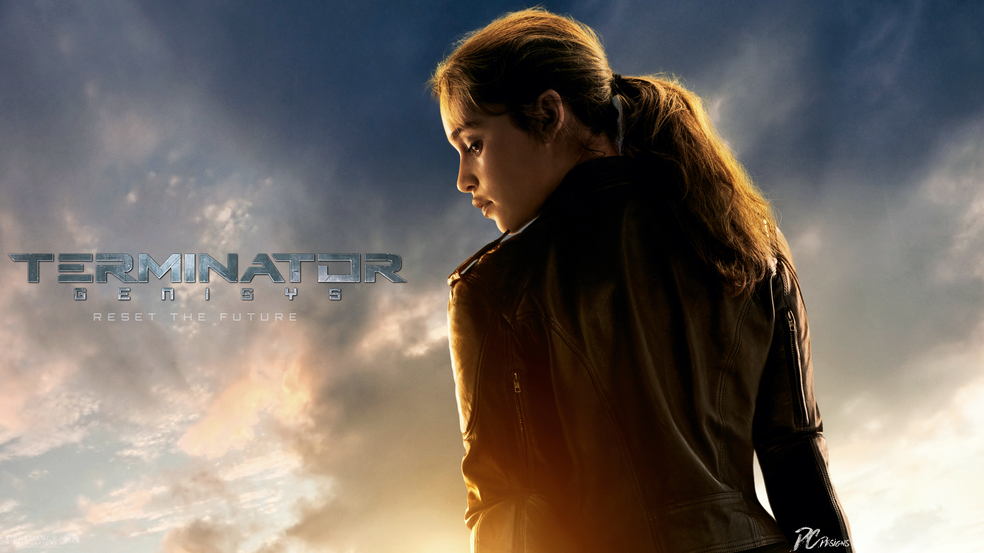 Movie - Terminator Genisys  Fan Art Poster Emilia Clarke Sarah Connor Terminator Wallpaper