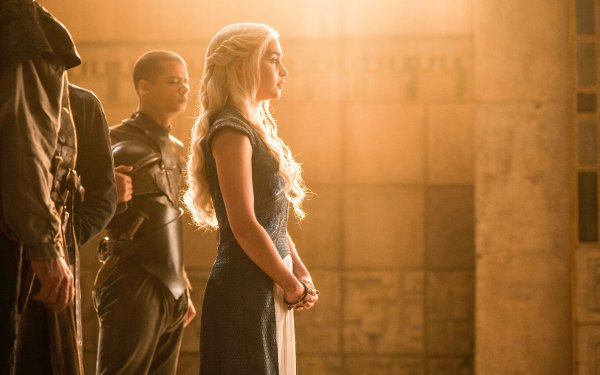 TV Show Game Of Thrones Daenerys Targaryen Emilia Clarke Grey Worm Jacob Anderson HD Wallpaper | Background Image