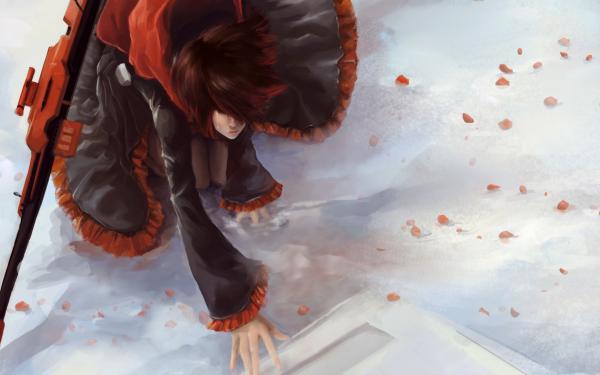 Anime RWBY Ruby Rose Snow Gravestone HD Wallpaper | Background Image