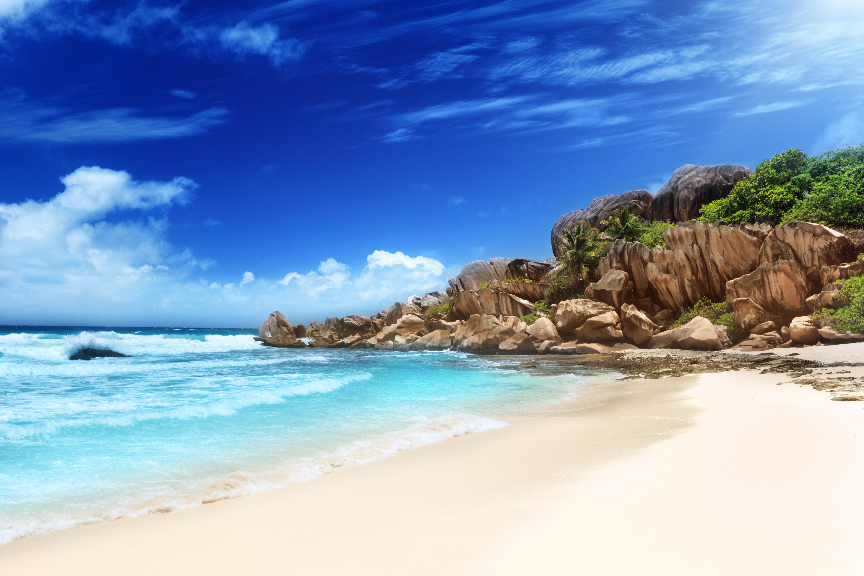 Grande Anse Beach La Digue Island Seychelles