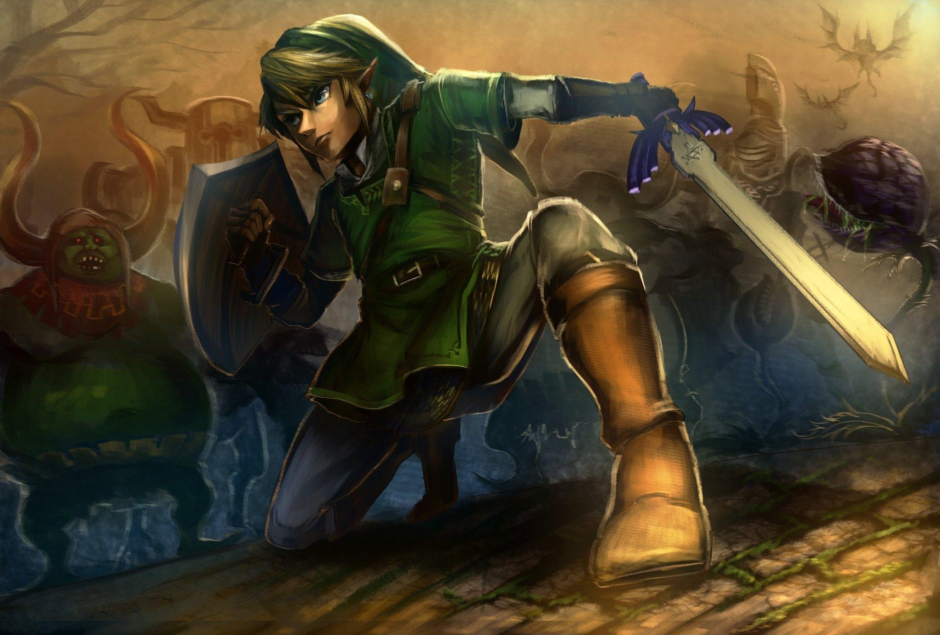 Video Game - The Legend of Zelda: Breath of the Wild  Link Sword Dark Wallpaper