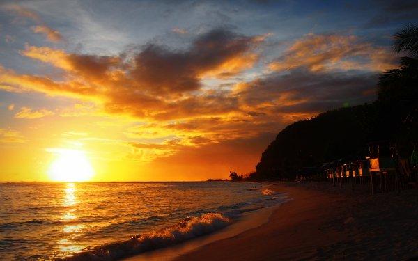 Photography Sunset Seashore Sea Ocean Pacific Samoa Polynesia HD Wallpaper | Background Image
