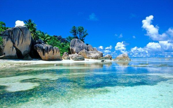 Tierra/Naturaleza Orilla del mar Tropico Sea Seychelles Tropics Lagoon Seychelles Islands Fondo de pantalla HD | Fondo de Escritorio