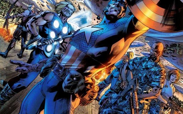 Comics Avengers The Avengers Hawkeye Thor Captain America Nick Fury Black Widow Ultimates HD Wallpaper   Background Image