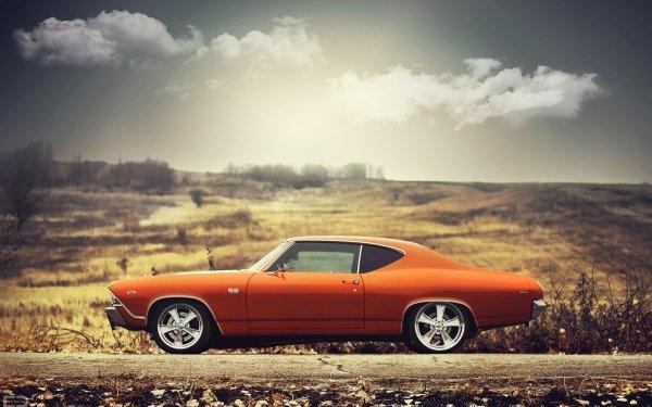 Véhicules Chevrolet Chevelle SS Chevrolet Chevrolet Chevelle Muscle Car Orange Car Fond d'écran HD | Arrière-Plan