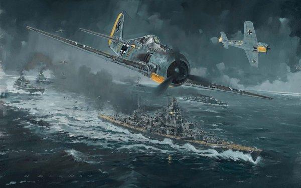 Military Focke-Wulf Fw 190 Military Aircraft World War II HD Wallpaper | Background Image