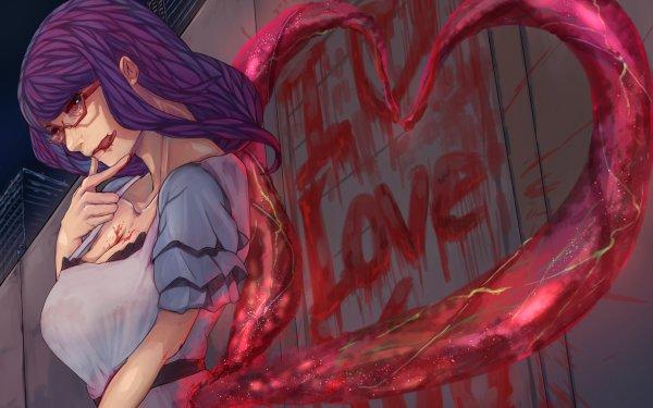 Anime Tokyo Ghoul Rize Kamishiro Glasses Kagune Blood HD Wallpaper | Background Image