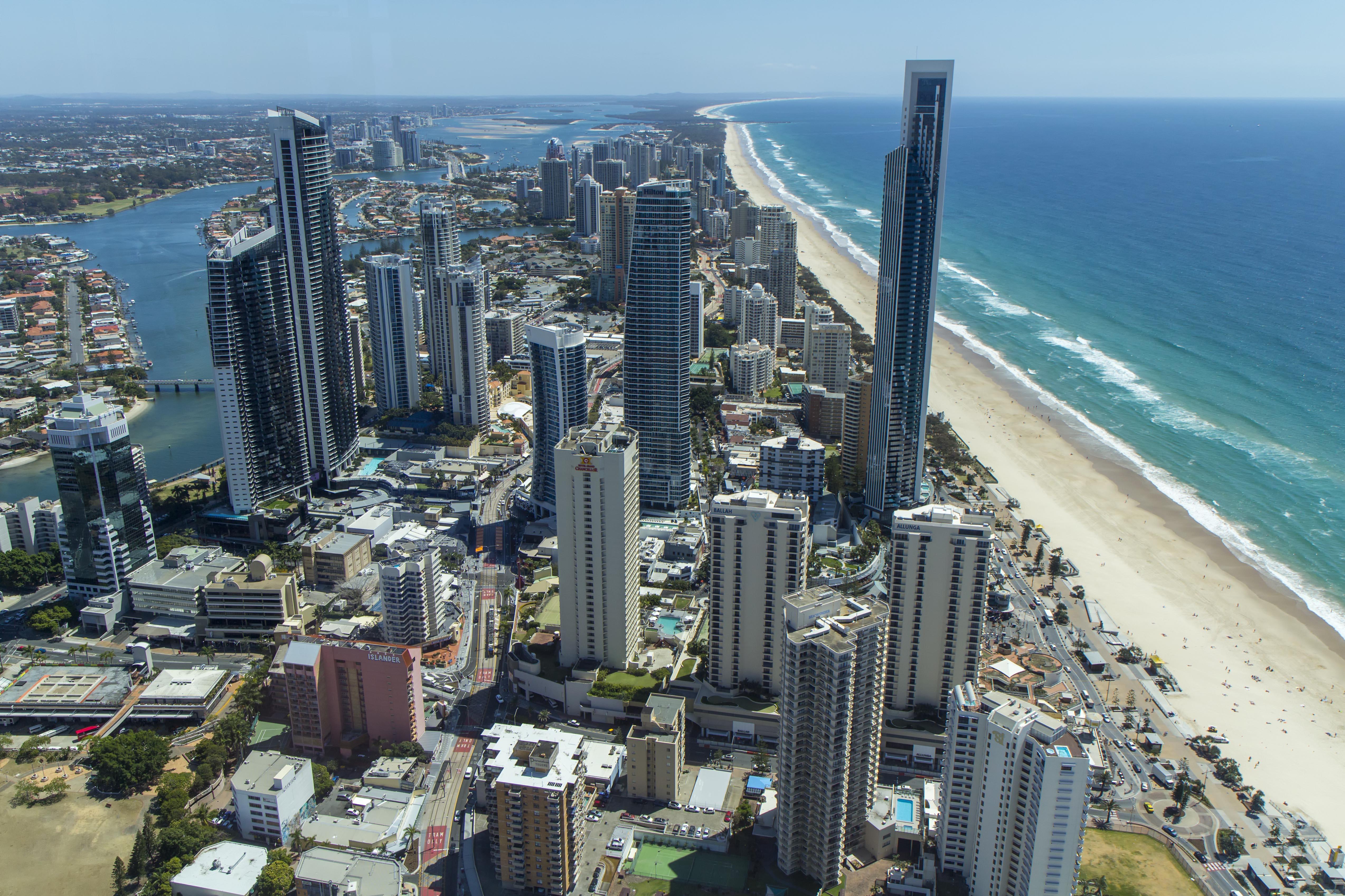 Обои Aerial, Gold Coast Skyline, queensland, Australia. Города foto 13