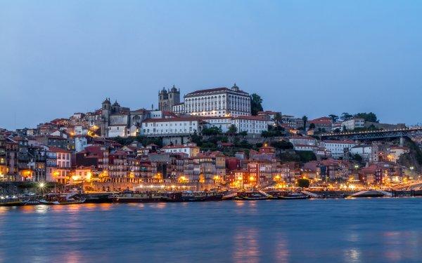 Man Made Porto Cities Portugal City Quay House Boat Evening Church of São Francisco HD Wallpaper | Background Image