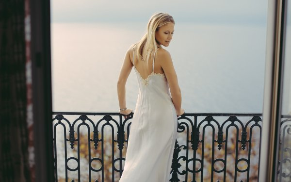 Women Model Models Woman Blonde Rear Dress HD Wallpaper | Background Image