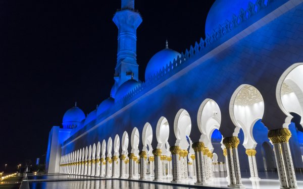 Religious Sheikh Zayed Grand Mosque Mosques Abu Dhabi United Arab Emirates Mosque HD Wallpaper   Background Image