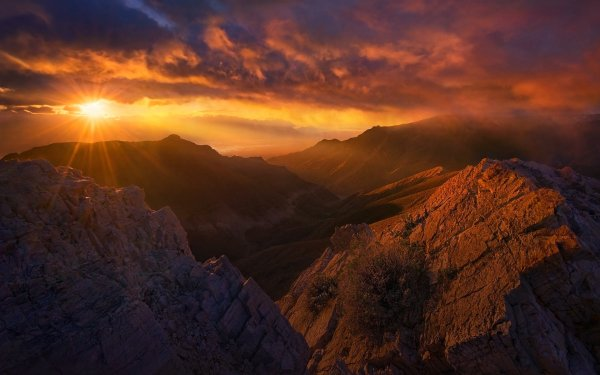 Earth Landscape Nature Cloud Rock Sunbeam Mountain HD Wallpaper | Background Image
