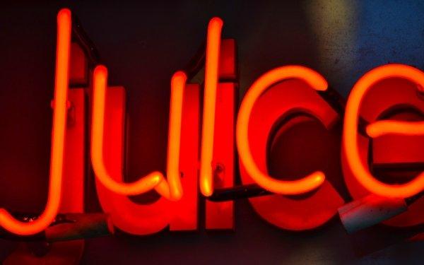 Photography Neon Juice Sign orange HD Wallpaper | Background Image