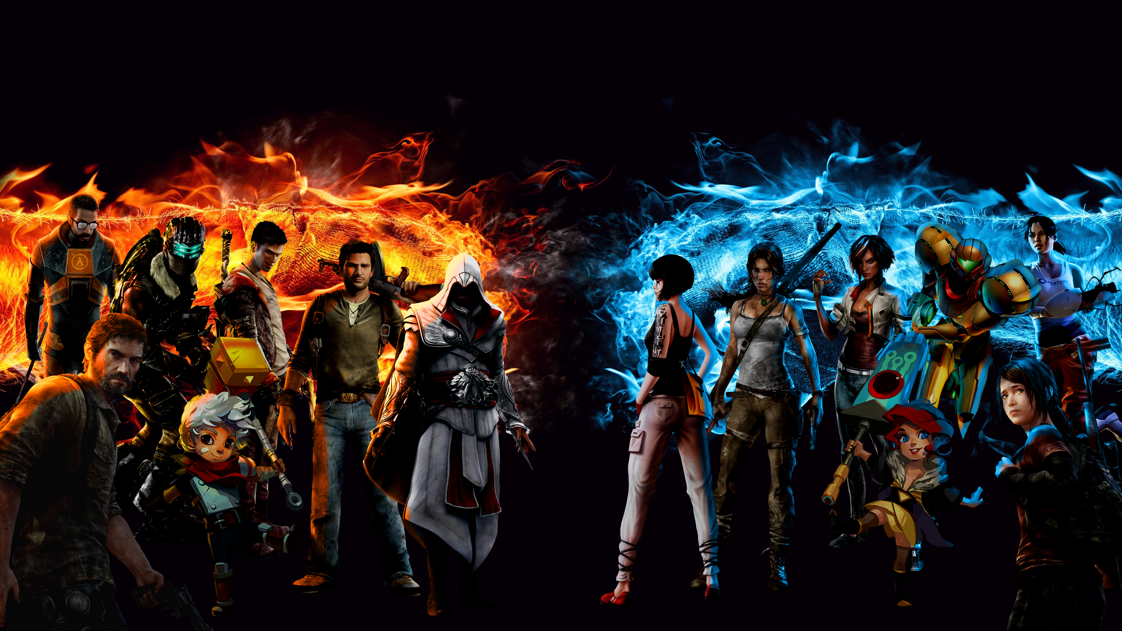 Video game legends mashup 4k ultra hd wallpaper background image 3840x2160 id 602737 - Epic wallpapers 2560x1440 ...