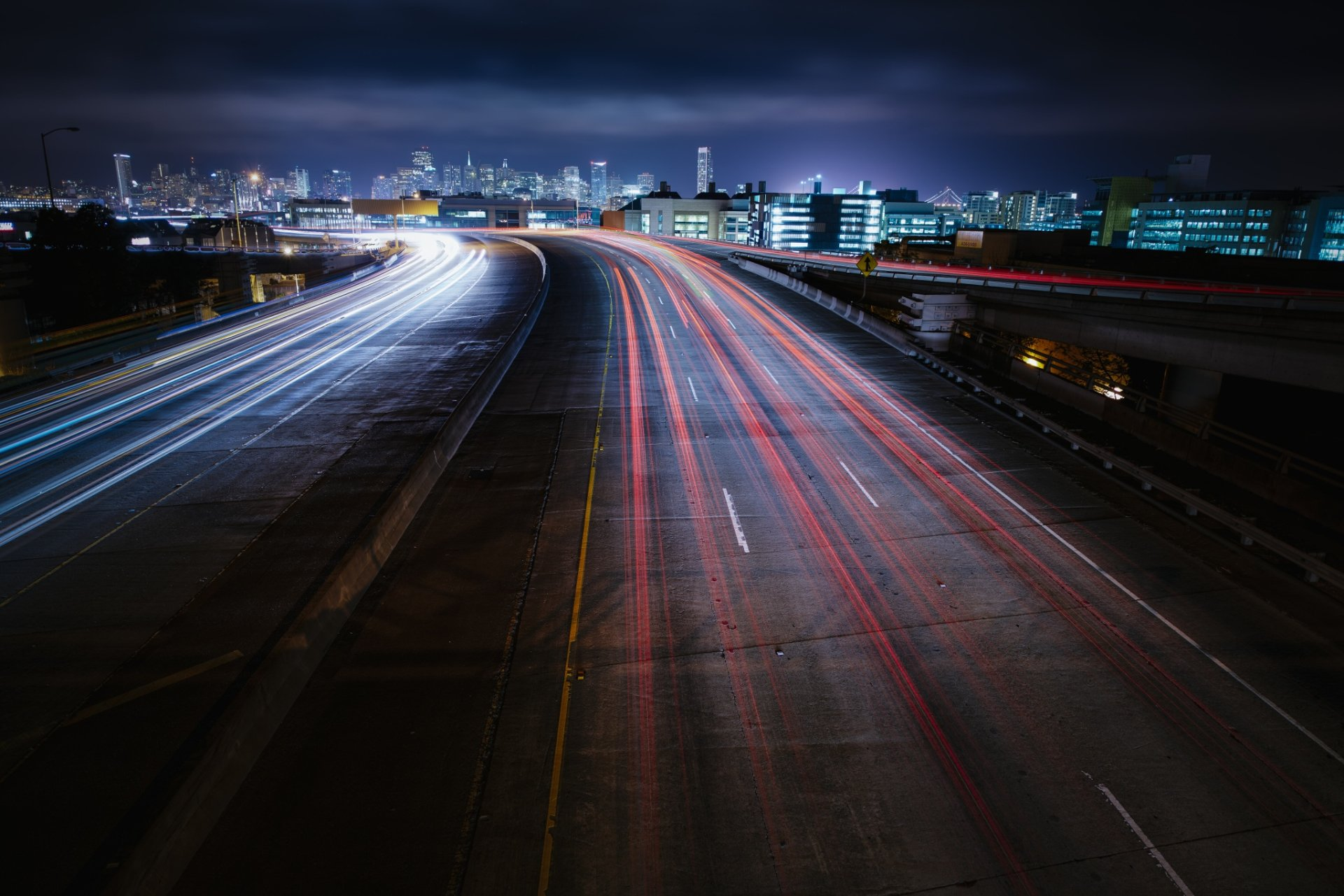 Photography - Time-lapse  Highway City USA California San Francisco Wallpaper