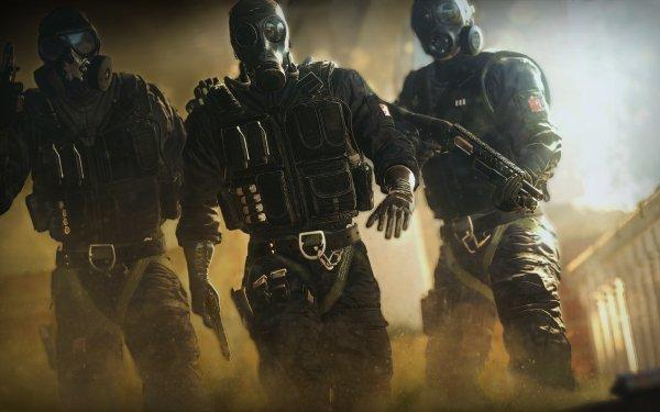 Video Game Tom Clancy's Rainbow Six: Siege Smoke Mute Thatcher HD Wallpaper | Background Image