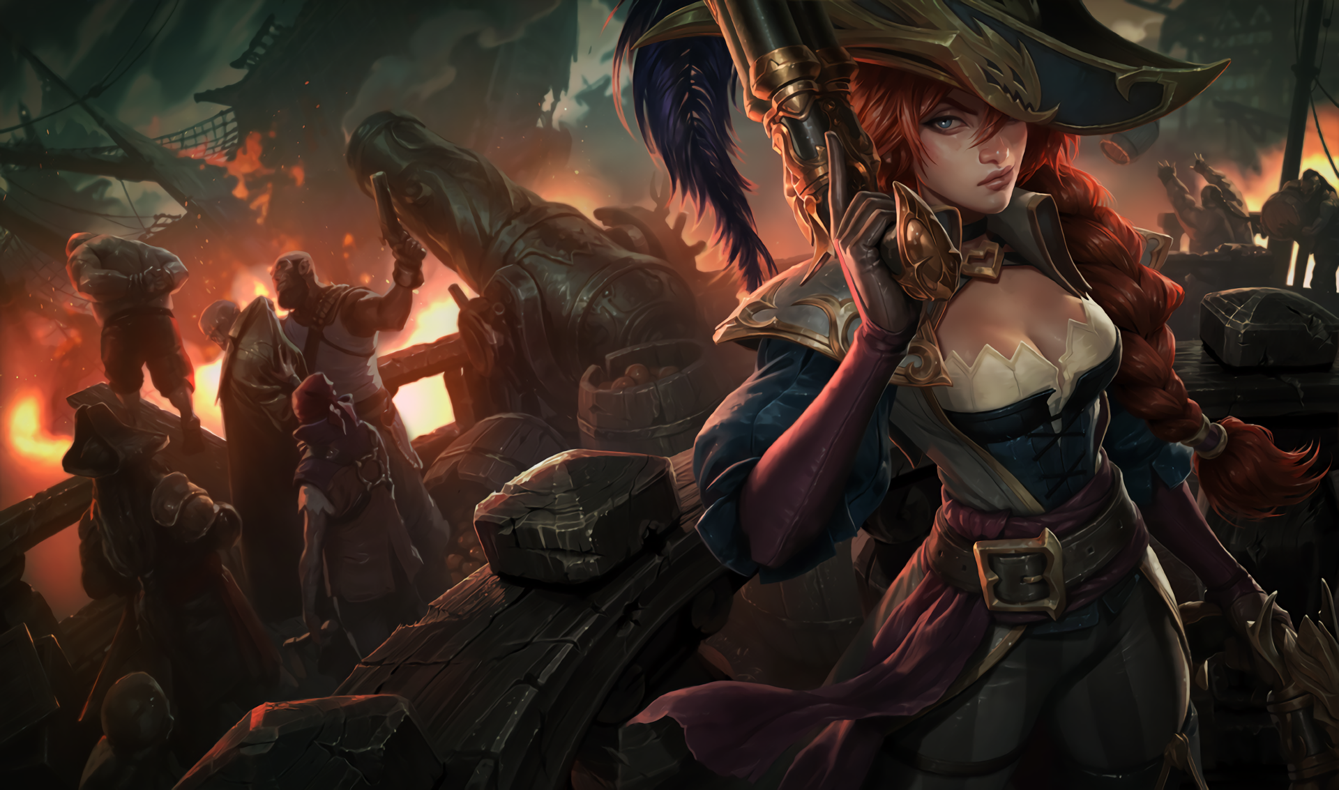 League Of Legends Miss Fortune Wallpaper: Captain Fortune Full HD Wallpaper And Background