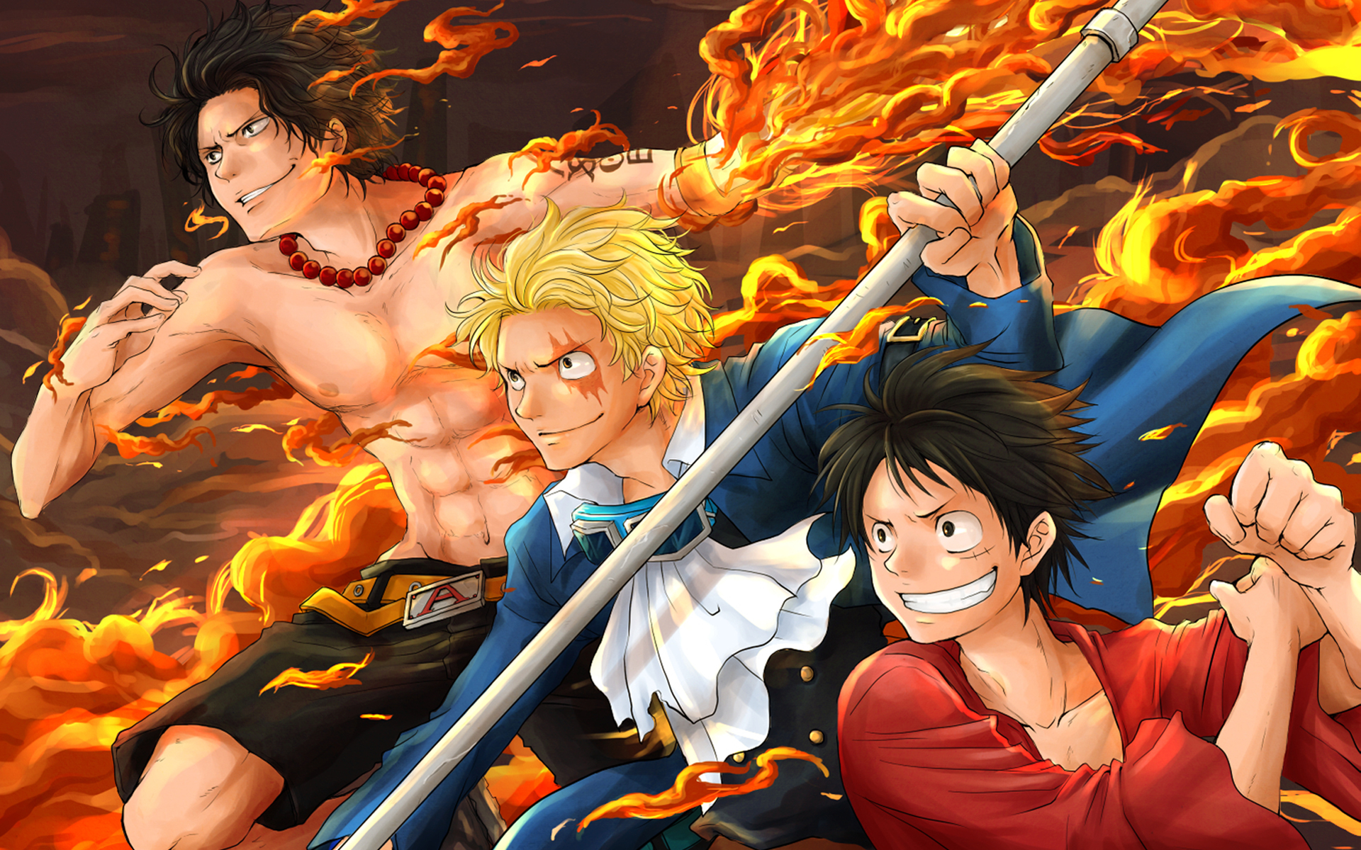 ace and luffy fighting wallpaper - photo #46