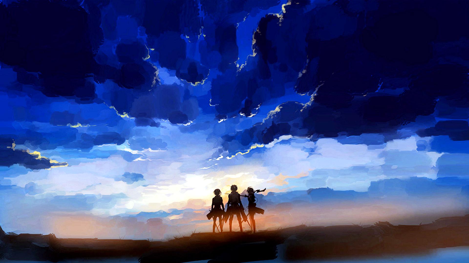 Shingeki no Kyojin - Sunset Fondo de pantalla HD | Fondo ...