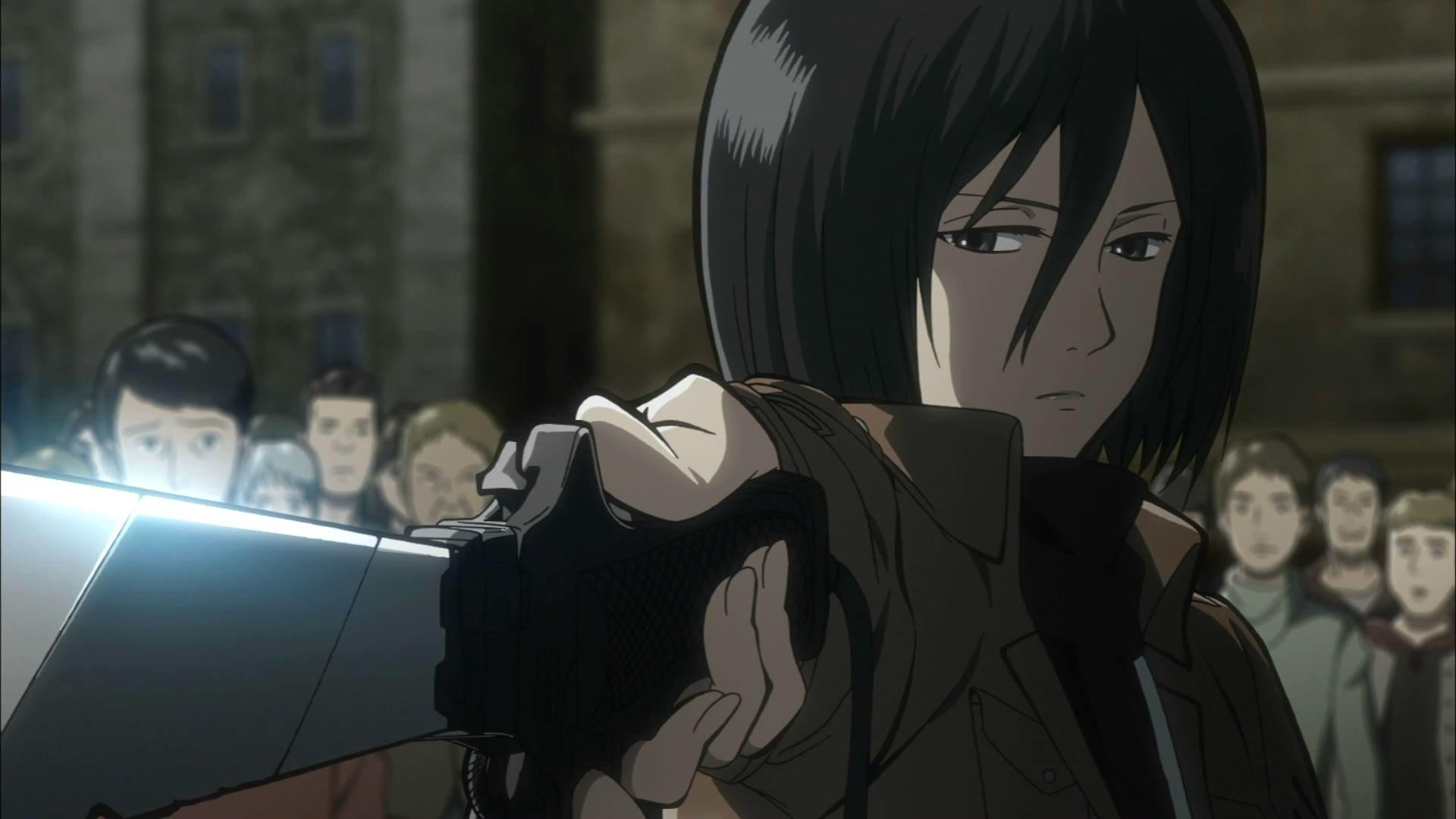 Shingeki No Kyojin Mikasa Ackerman Hd Wallpaper Background Image 1920x1080 Id 607719 Wallpaper Abyss