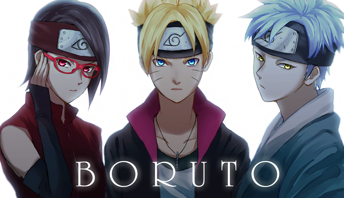 Sarada Boruto And Mitsuki Wallpaper And Background Image 1334x768 Id 614826 Wallpaper Abyss