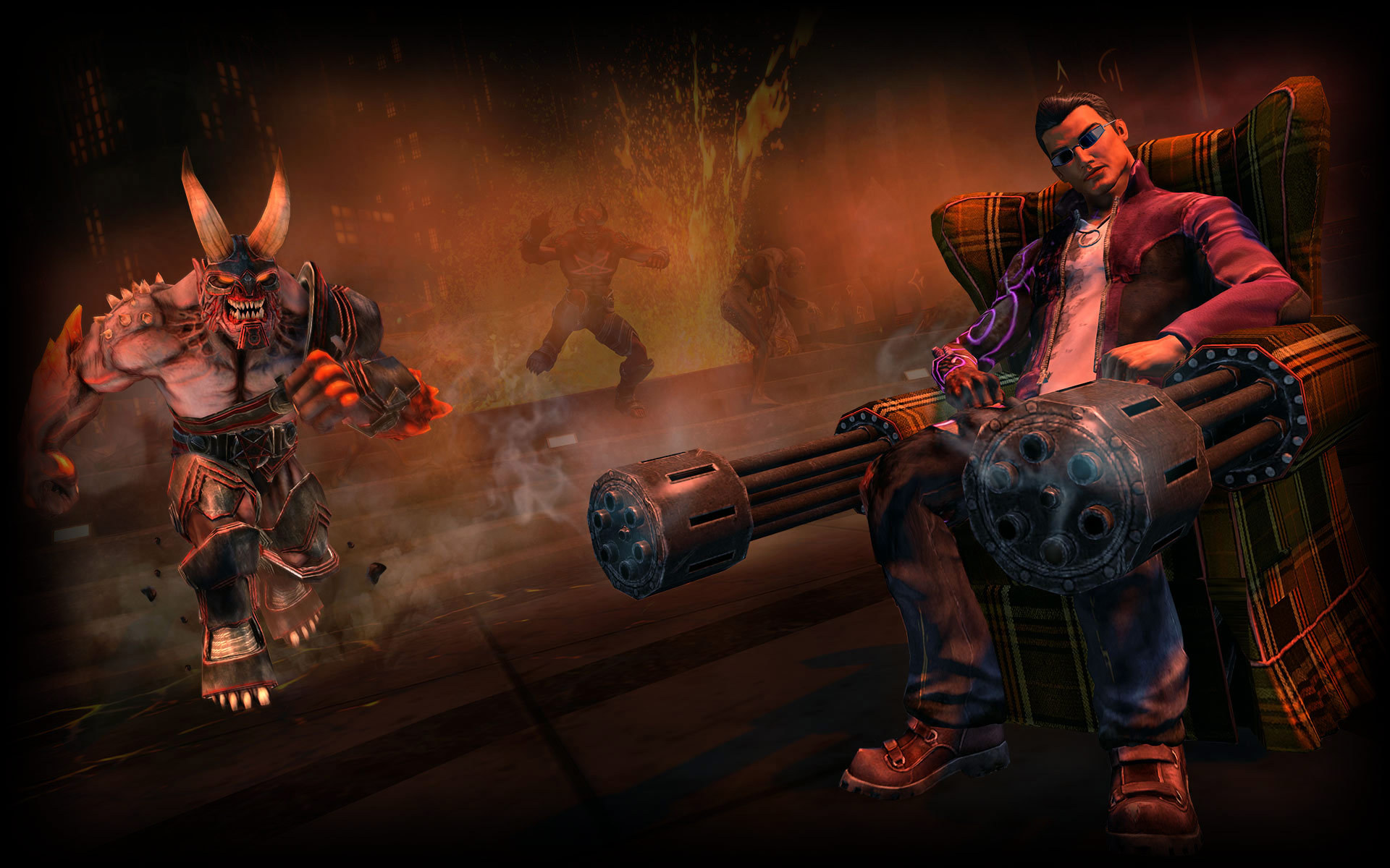 Saints Row Gat Out Of Hell Hd Wallpaper Background Image