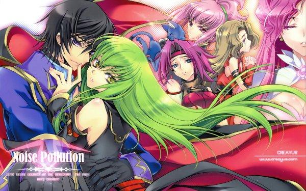 Anime Code Geass C.C. Lelouch Lamperouge Kallen Kōzuki Euphemia Li Britannia Anya Alstreim Nunnally Lamperouge HD Wallpaper | Background Image