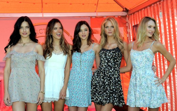 Women Model Models Adriana Lima Alessandra Ambrosio Miranda Kerr Erin Heatherton Candice Swanepoel HD Wallpaper | Background Image