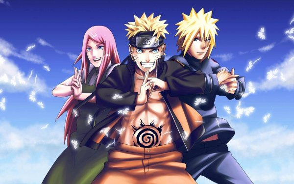 Anime Naruto Naruto Uzumaki Kushina Uzumaki Minato Namikaze HD Wallpaper | Background Image