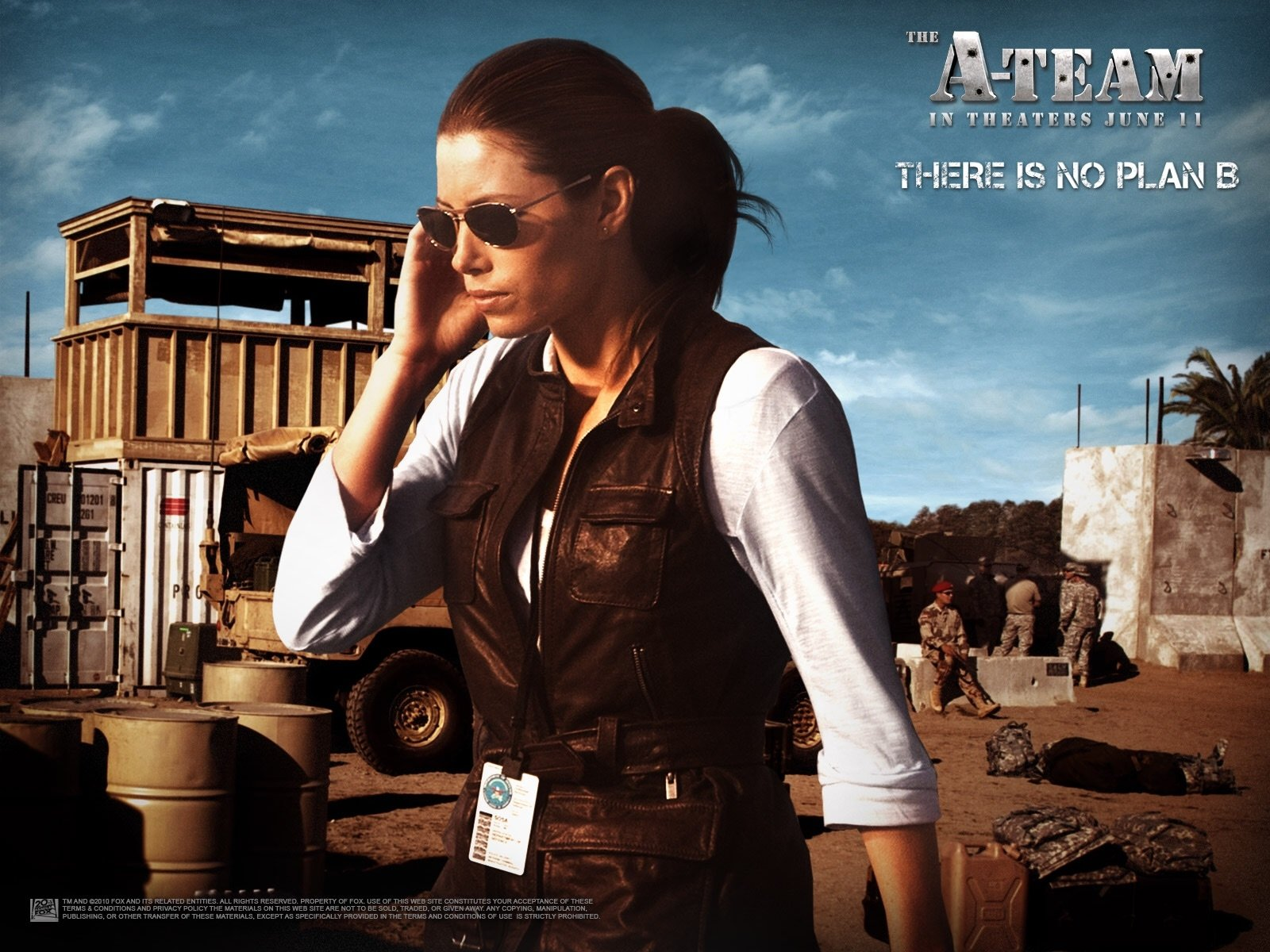 Movie - The A-Team  Jessica Biel Wallpaper