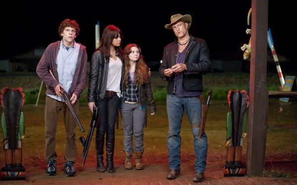 Movie Zombieland Emma Stone Jesse Eisenberg Woody Harrelson Abigail Breslin HD Wallpaper | Background Image