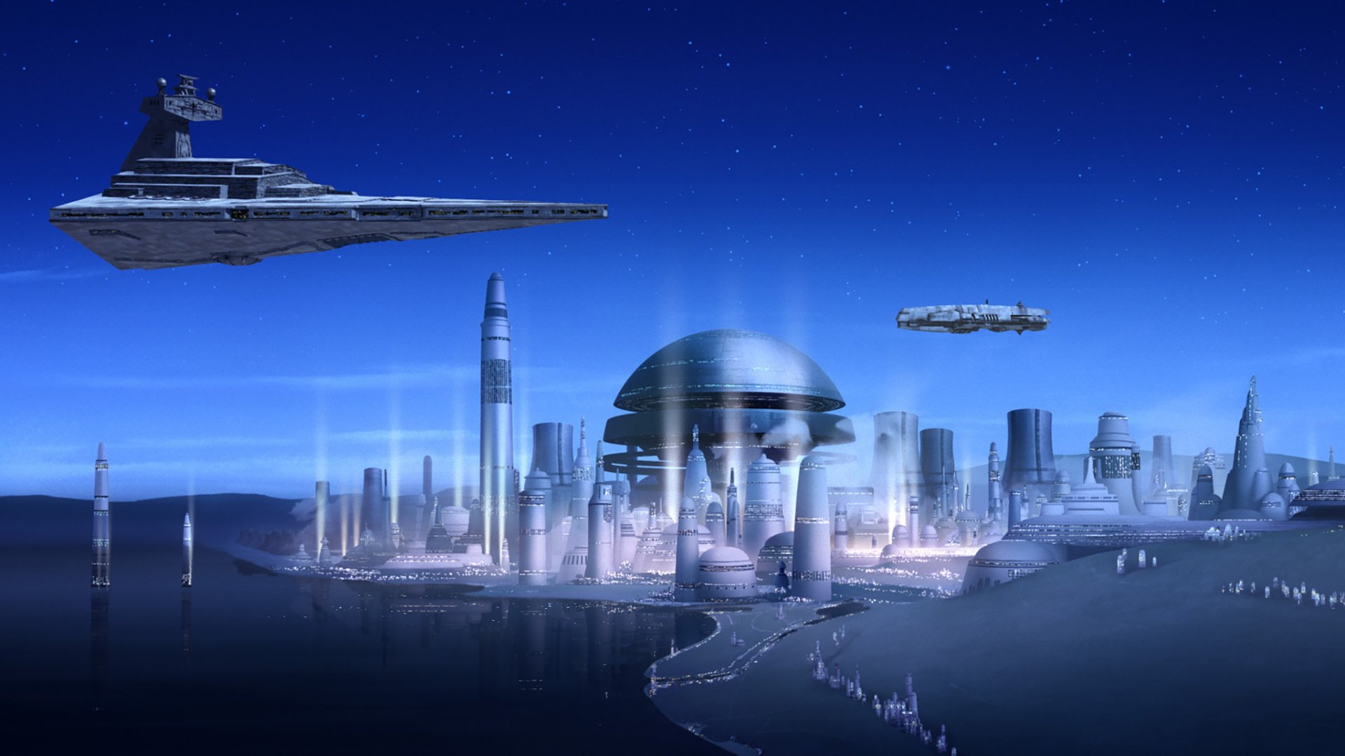 TV Show - Star Wars Rebels  Star Destroyer City Sci Fi Wallpaper
