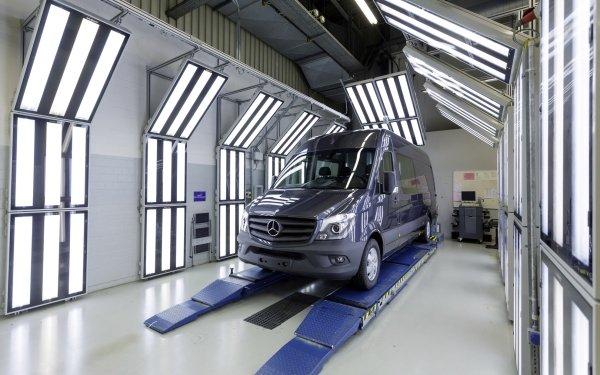 Vehicles Mercedes-Benz Sprinter Mercedes Benz Sprinter Car Van Factory HD Wallpaper | Background Image