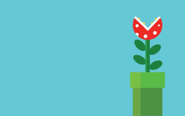 Jeux Vidéo Super Mario Bros. Mario Piranha Plant Fond d'écran HD | Arrière-Plan