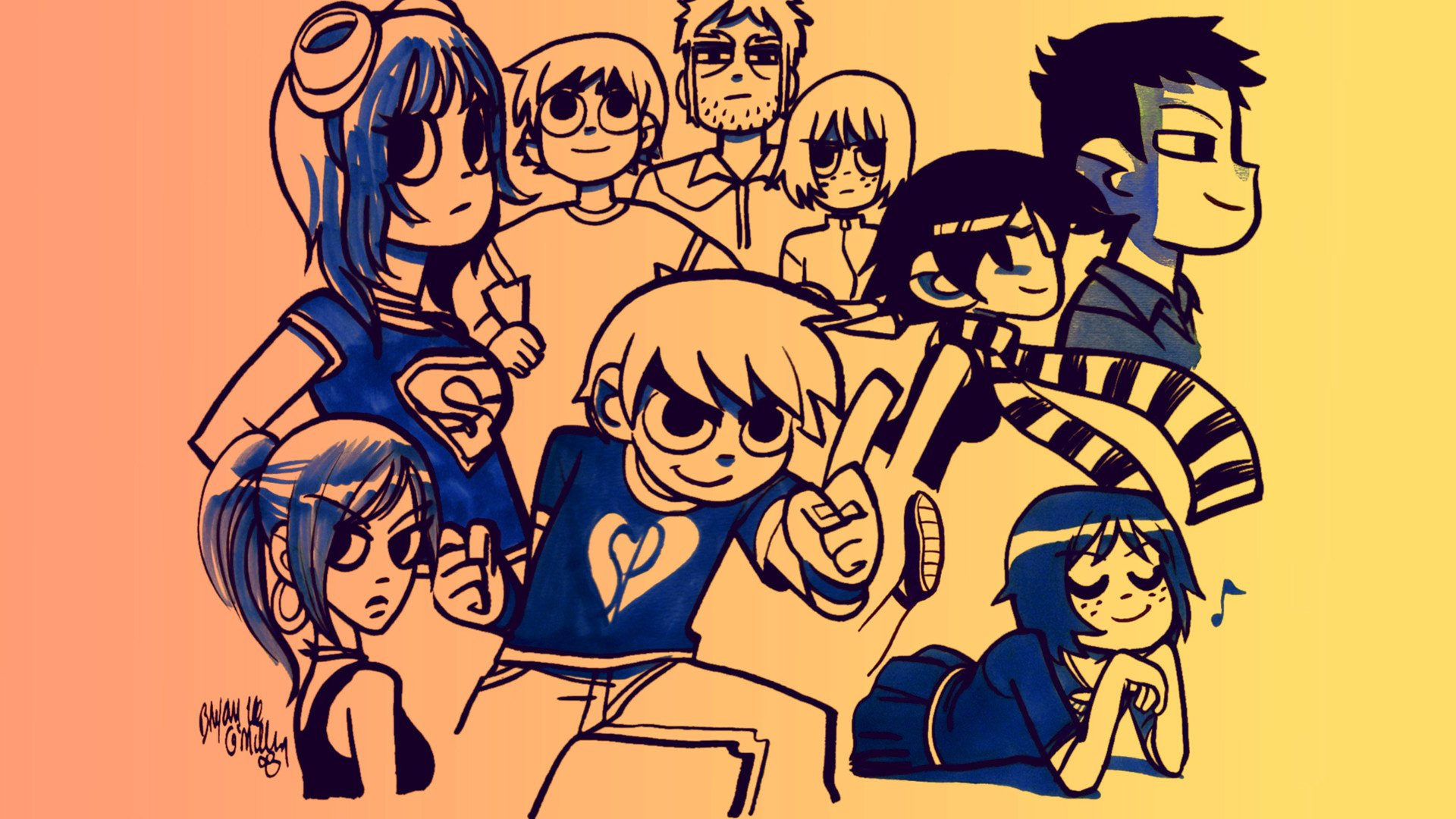Scott Pilgrim vs. The World Fondo de pantalla HD | Fondo de Escritorio | 1920x1080 | ID:646971 - Wallpaper Abyss
