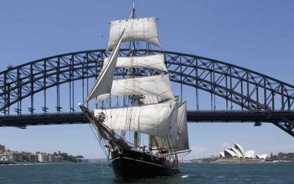 Véhicules Navire Harbour Bridge Opéra de Sydney Schooner Fond d'écran HD   Image